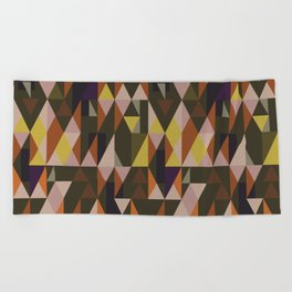Vintage triangles vibe Beach Towel