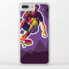 color your skate Clear iPhone Case