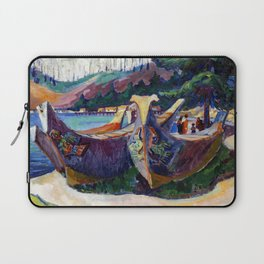 Emily Carr First Nations War Canoes in Alert Bay Laptop Sleeve
