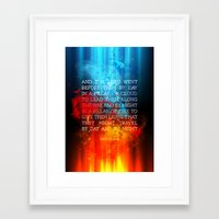 bible verses Framed Art Prints featuring Typographic Motivational Bible Verses - Exodus 13:21 by The Wooden Tree