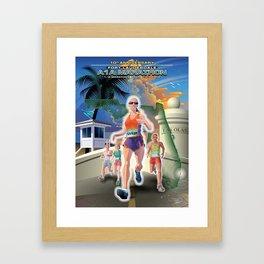 Fort Lauderdale A1A Marathon Framed Art Print