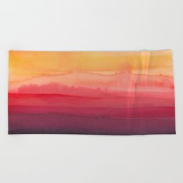 Heat waves Beach Towel