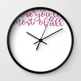 Share Fall With Those You Love Most of All Autumn Wall Clock
