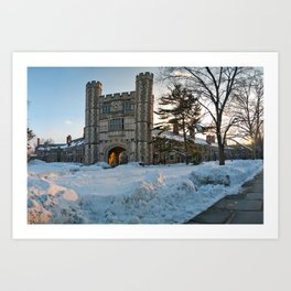 Blair Tower at Princeton University in the Winter Art Print