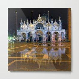 Italy. Venice at night Metal Print