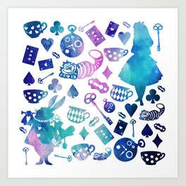 Alice in Wonderland - Galaxy W Art Print