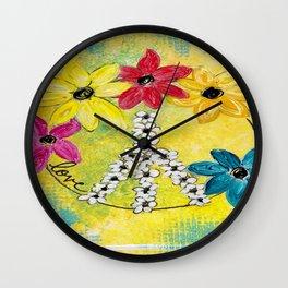 Peace & Love Wall Clock