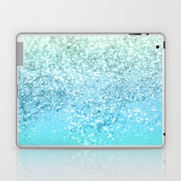 Seafoam Aqua Ocean MERMAID Girls Glitter #1 #shiny #decor #art #society6 Laptop & iPad Skin