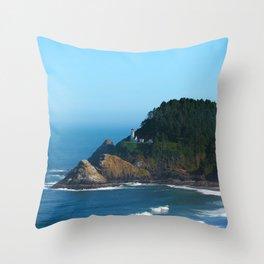 West Coast Lighthouse Throw Pillow
