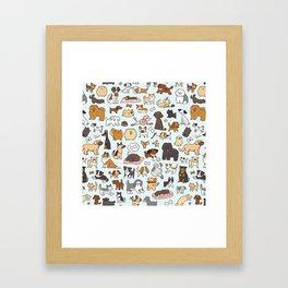 Doggy Doodle Framed Art Print