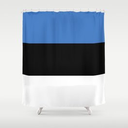 Flag of Estonia - Estonian,Eest,Baltic,Finnic,Sami, Skype,Arvo Part,Tallinn,Tartu, Narva,Snow, Cold Shower Curtain