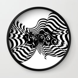 Psycho wave clear Wall Clock