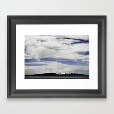 yellowstone lake Framed Art Print
