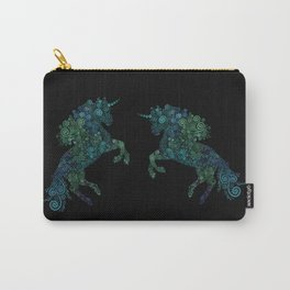 Green and Blue Unicorn Filix Carry-All Pouch