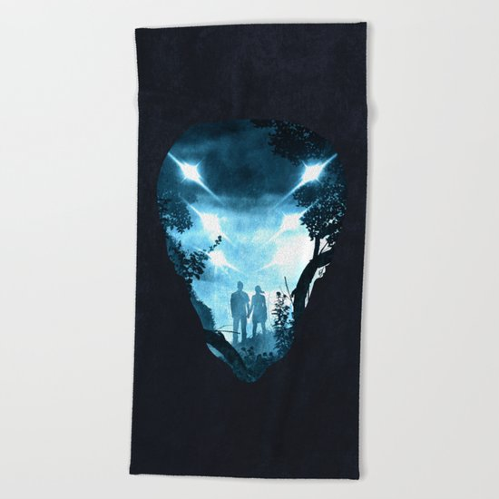 We are not alone Beach Towel