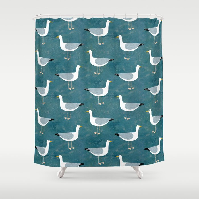 Seagull Standing Shower Curtain