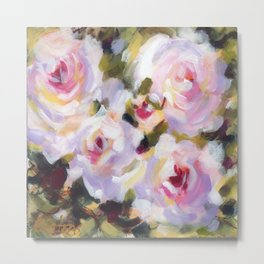 White Rose Garden Metal Print