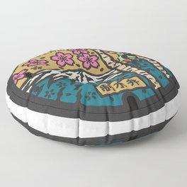 Japan manhole fuji sakura Floor Pillow
