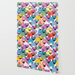 Colored Pugs Pattern - no1 Wallpaper