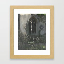 Beauty in Ruins Framed Art Print