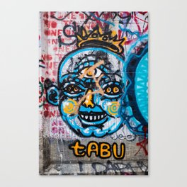 Tabu Graffiti Canvas Print