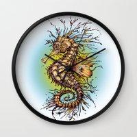 seahorse Wall Clocks featuring Seahorse by TAOJB