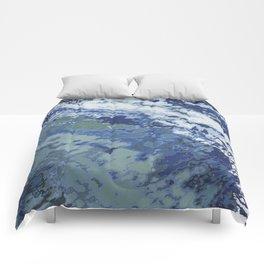Deep Blue Ocean Wake Comforters