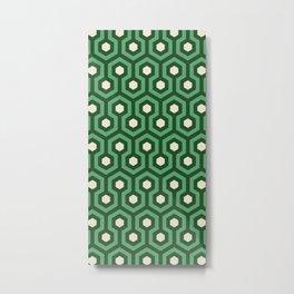 Emerald Goth Hexagons Pattern Metal Print