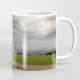 Shelf Cloud Over Country Road 4 Coffee Mug
