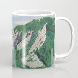 Boulder Flatirons in the Summer Coffee Mug