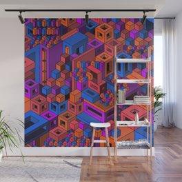 Geometric City Wall Mural