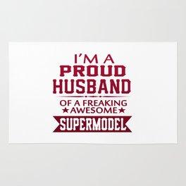 I'M A PROUD SUPERMODEL'S HUSBAND Rug