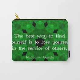 Gandhi Inspirational Quote About Self-Help Carry-All Pouch