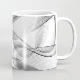 Minimal black and white smoky flux in motion #abstractart #decor Coffee Mug