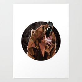 I can't bear these triangles! Art Print