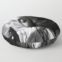 Madonna Smoking - Home Décor, Vintage poster, Fashion, Model, Print, gift, photography, Floor Pillow