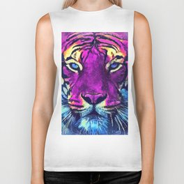 tiger purple spirit #tiger Biker Tank