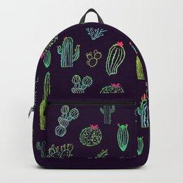 Dark Watercolour Cactus Backpack