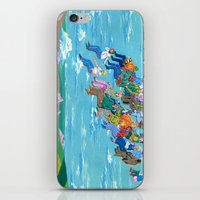 plane iPhone & iPod Skins featuring Plane Without Plane by Valeriya Volkova