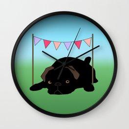 Pendleton Pug Wall Clock