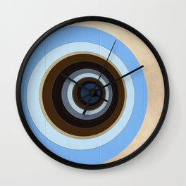 blue and brown circles Wall Clock