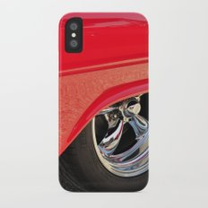 Red and Chrome Slim Case iPhone X