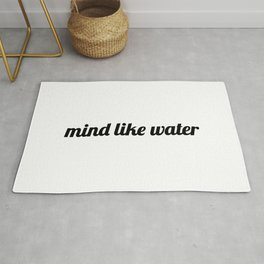 Mind Like Water - zen quotes Rug