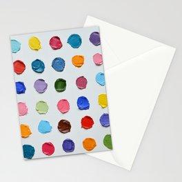 Rainbow Polka Daubs Stationery Cards