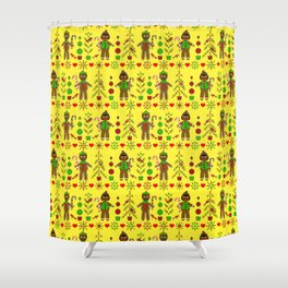 Gingerbread Children Shower Curtain