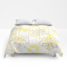 Summer Flowers Yellow Comforters