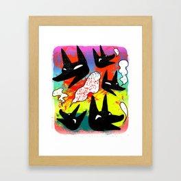 Whimsical Wolfes Framed Art Print
