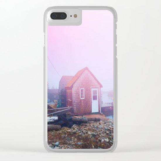 Coastal Fog Clear iPhone Case
