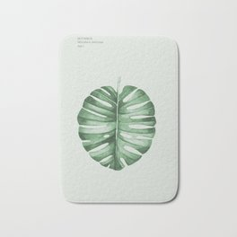 Monstera, Leaf, Tropical, Wall Art Bath Mat