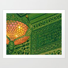 Chicago Cultural Center ~ architecture tiffany lamp detail Art Print